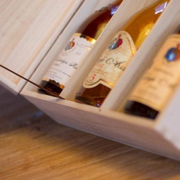 Pakket Tokaji Aszu 355 in fraaie wijnkist - Hollókői Mihály-125