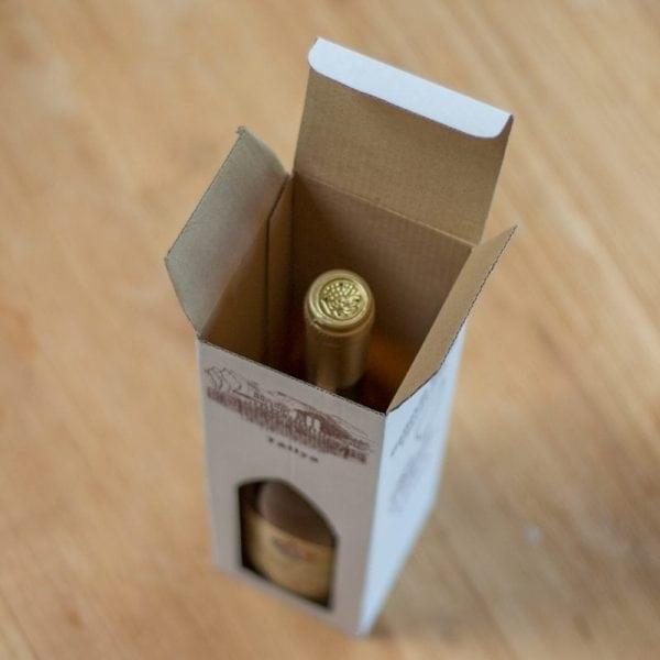 Kartonnen geschenkverpakking voor 1 fles-324