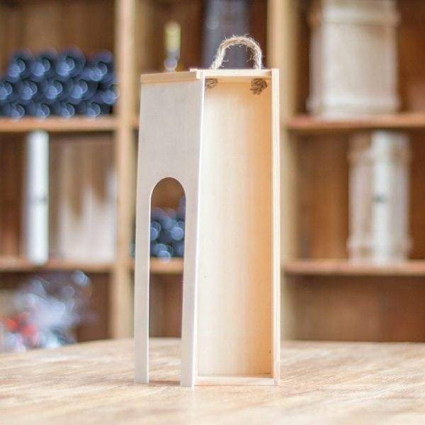 Wijnkist met venster voor 1 fles-0