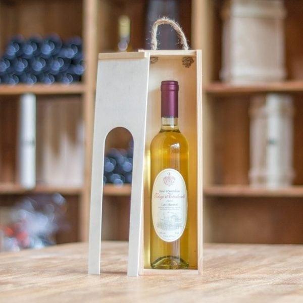 Wijngeschenk Hollokoi Mihaly Hárslevelű Late Harvest in wijnkist met venster-452