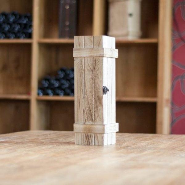Robuuste wijnkist voor 1 fles-0