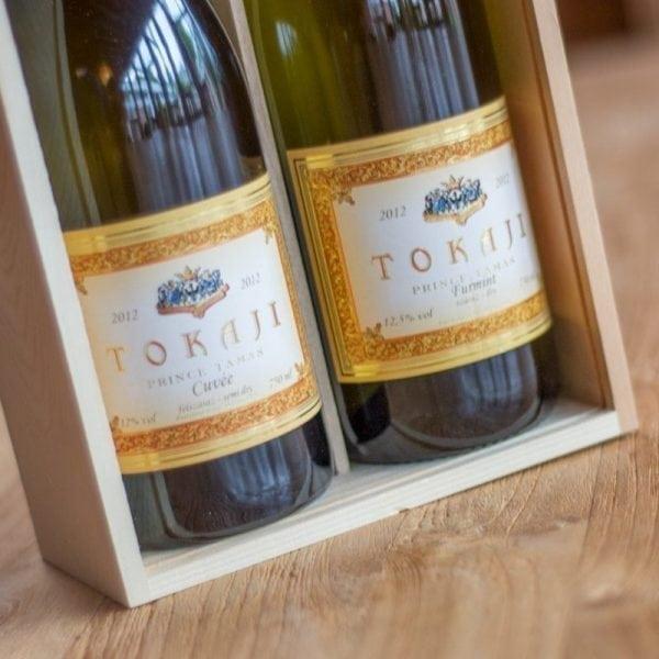 Pakket Prince Tamas in wijnkist met venster-444