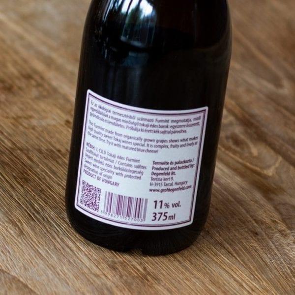 Gróf Degenfeld Tokaji Sweet Furmint label achterzijde