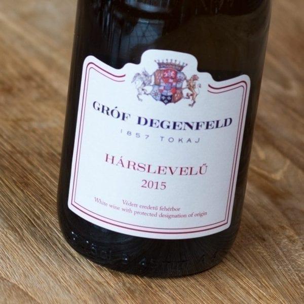 Gróf Degenfeld Tokaji Hárslevelü 2015 label voorzijde