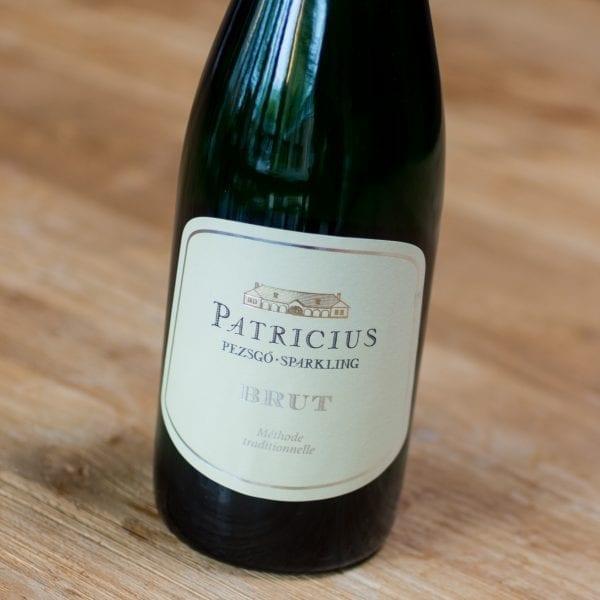 Patricius Pezsgo sparkling brut 2014 label voorzijde