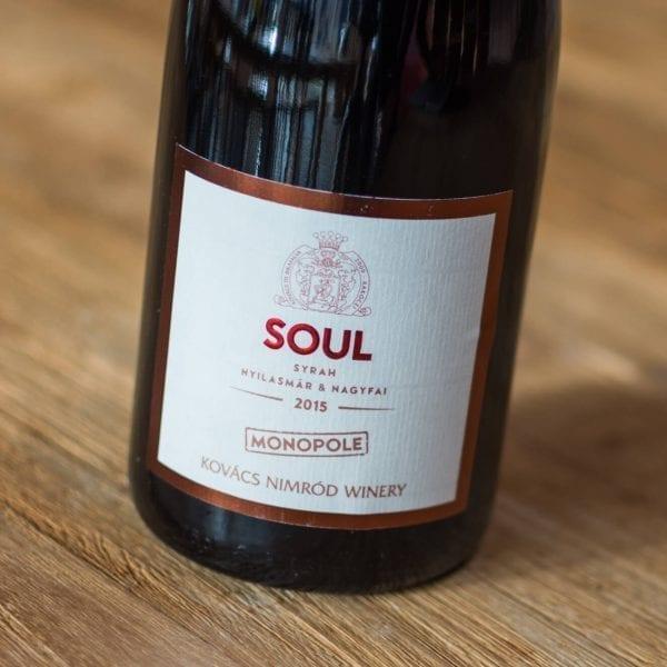 Monopole Soul Syrah 2015 Label Voorzijde