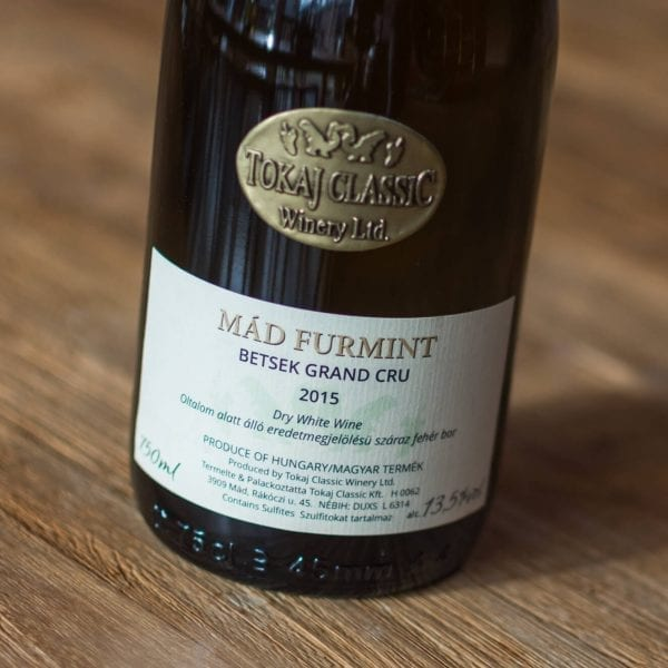 Tokaj Classic Winery Ltd Mad Furmint 2015 Label Voorzijde